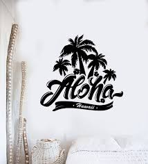 Vinyl Wall Decal Palm Trees Hawaii Aloha Summer Beach Style Stickers M Wallstickers4you