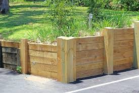 build a wooden retaining wall walls