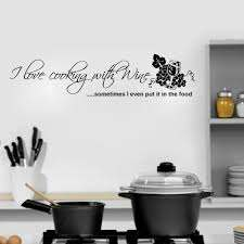 I Love Cooking With Wine Wall Decal Sticker Decal The Walls