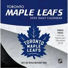 toronto maple leafs 2020 desk calendar