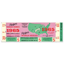 Mustang Products La Dodgers 1965 Game 5 World Series Ticket Wall Decal Wayfair