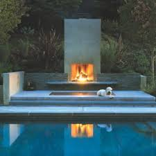 3 modern outdoor fireplaces modern