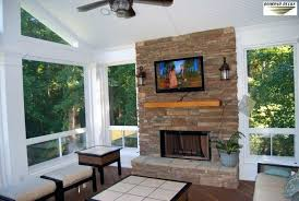 screened in porch with fireplace jigas me