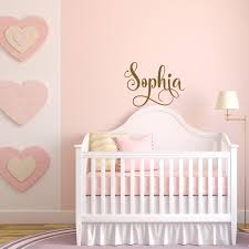 Baby Girl Nursery Wall Decal Gold Decal For Girls Room Decor Etsy