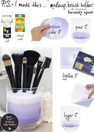 39 stylish diy makeup brush storage