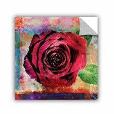 Artwall Rose Wall Decal Wayfair