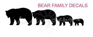 Amazon Com Elimaerey Designs Black Bear Family Decal Stickers Home Walls Car Or Truck Window Etc Handmade