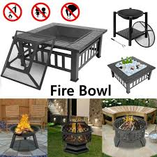 fire pit place bowl wood burning