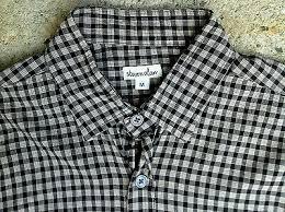 light cotton shirt m black gray check
