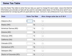 ebay s tax table average rates taxjar