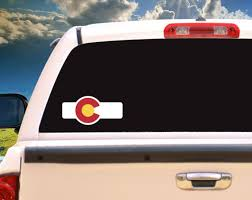 Colorado Flag Sticker Colorado Lover Window Decal Sticker Etsy