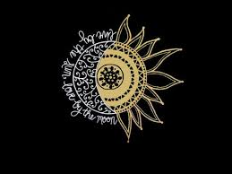 Moon And Sun Decal 2 Moon And Sun Decal Live By The Sun Etsy Moon Decal 2 Moons List Of All Colors