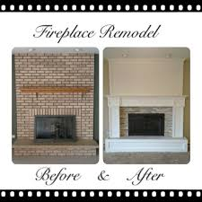 brick fireplace remodel