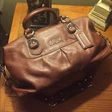 coach bags ashley leather satchel