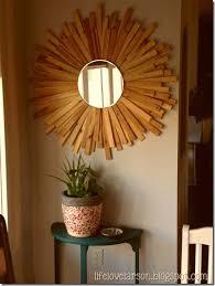 diy sunburst mirror with wood shims