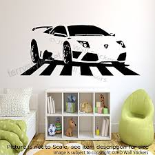 Lamborghini Wall Decals Huracan Sports Car Wall Art Sticker Nursery Kid Bedroom Removable Vinyl Decal Wall Graphics Plqwql Plqwql 16 40