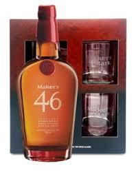 maker s mark 46 gift set with 2 gles