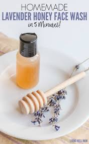homemade lavender honey face wash in
