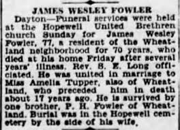 James Wesley Fowler Obituary - Newspapers.com