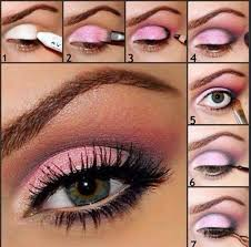step pictures on applying eye makeup