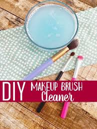 diy makeup brush cleaner easy way to