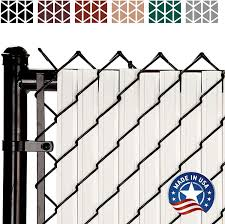 Maximum Privacy Solitube Slats For Chain Link Fencing 6 Ft White Amazon Co Uk Garden Outdoors