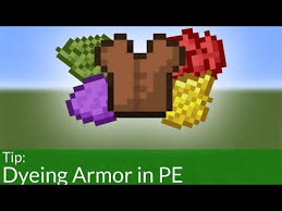 how to dye leather armor in mcpe 1 14