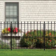 Our No Dig Grand Empire Fence Provides A Nice Fencing Solution If You Re Looking A Classic Design But Don T Decorative Fence Panels Fence Panels Aluminum Fence