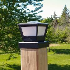 Fence Post Solar Light By Free Light 5x5 And 6x6 Post Cap Solar Light