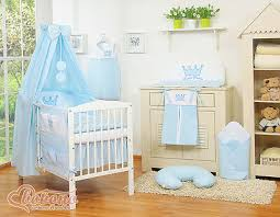 new little prince baby blue bedding set
