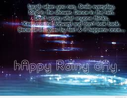 rainy day picture saying with wallpaper