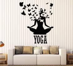 Lotus Meditation Buddhism Vinyl Wall Stickers Decor Yoga Center Pose Sticker Removable Waterproof Design Wall Decal Sa240 Wall Decals Wall Sticker Decorsticker Decoration Aliexpress
