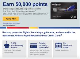 southwest chase card offering 50 000