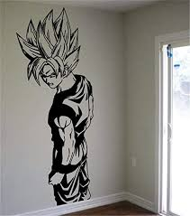 Amazon Com Ewdsqs Dragon Ball Wall Decal Super Saiyan Goku Vinyl Wall Sticker Dragon Ball Z Dbz Anime Wall Art Sticker For Kids Room Decoration Kitchen Dining