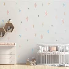 Funlife Cartoon Stickers Colorful Cactus Kids Wall Sticker Decorative Cute Wall Decal For Baby Nursery Room Wall Art Home Decor Wall Stickers Aliexpress