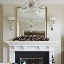 incredible mirror over fireplace mantel