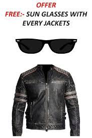 distressed black leather jacket