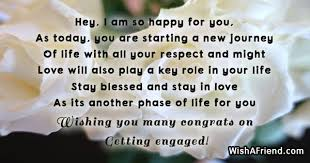 hey i am so happy for engagement quote
