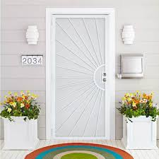 Us Door And Fence 36 In X 80 In Nuevo Dia White Steel Surface Mount Outswing Security Door With Perforated Steel Screen Inlay 8103680w The Home Depot In 2020 Security Door