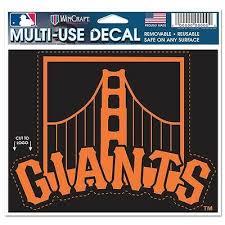13 X17 San Francisco Giants Vinyl Sticker Decal Cornhole Set Of 2