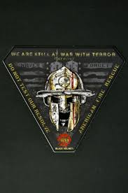 Still At War With Terror Firefighter Vehicle Decal Black Helmet