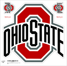 Amazon Com Ohio State University Ncaa Stickers Any Size Ohio State University Logo Decal Vinyl For Car Bamper Hemlet Laptop Tumblers Team Colors 3 Inch Kitchen Dining