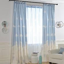 Blue White Cloud Window Curtains For Nursery Room Kids Room Curtains Kids Curtains White Kids Room