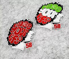 Motorsport Marco Simoncelli No 58 Stickers Super Sic Reflective Sticker Memorial Racing Moto Car Decals Motorcycle Vinyl Car Stickers Aliexpress