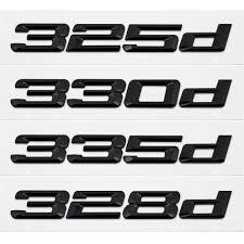 Black Car Styling Auto 3d Letter Number Trunk Lid Rear Sticker Emblem Decal Badge For Bmw 3 Series 325d 328d 330d 335d E30 F10 For Bmw Car Styling3d Letters Aliexpress