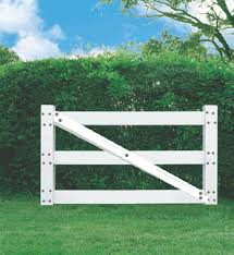 Vinyl Ranch Fence Gate 3 Rail White Fence Material