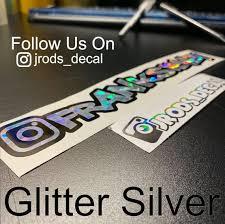 Instagram Username Personalized Vinyl Decal Lettering Sticker Etsy