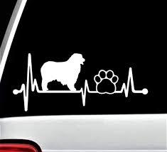 Amazon Com Aussie Australian Shepherd Dog Paw Heartbeat Lifeline Decal Sticker For Car Window Bg 141 Handmade