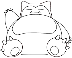 Snorlax Pokemon Colouring Pages Get Coloring Pages