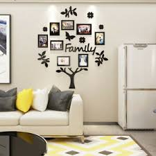 Small Family Tree Wall Decal 3d Diy Photo Frame Wall Stickers Mural Home Decor Ebay